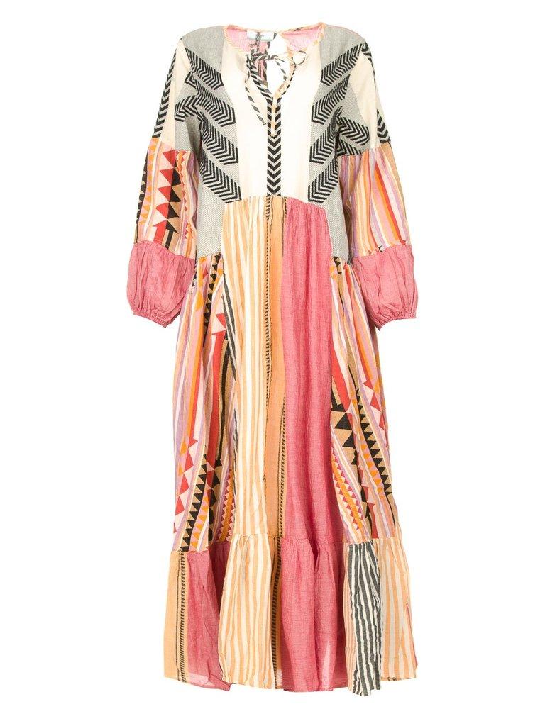 Devotion Devotion Long Dress Pastiano lila multicolor