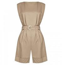 Rinascimento Rinascimento faux leather jumpsuit beige