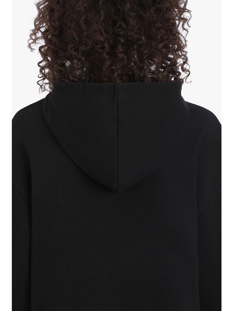 Balmain Balmain Cropped sweater with logo black gold