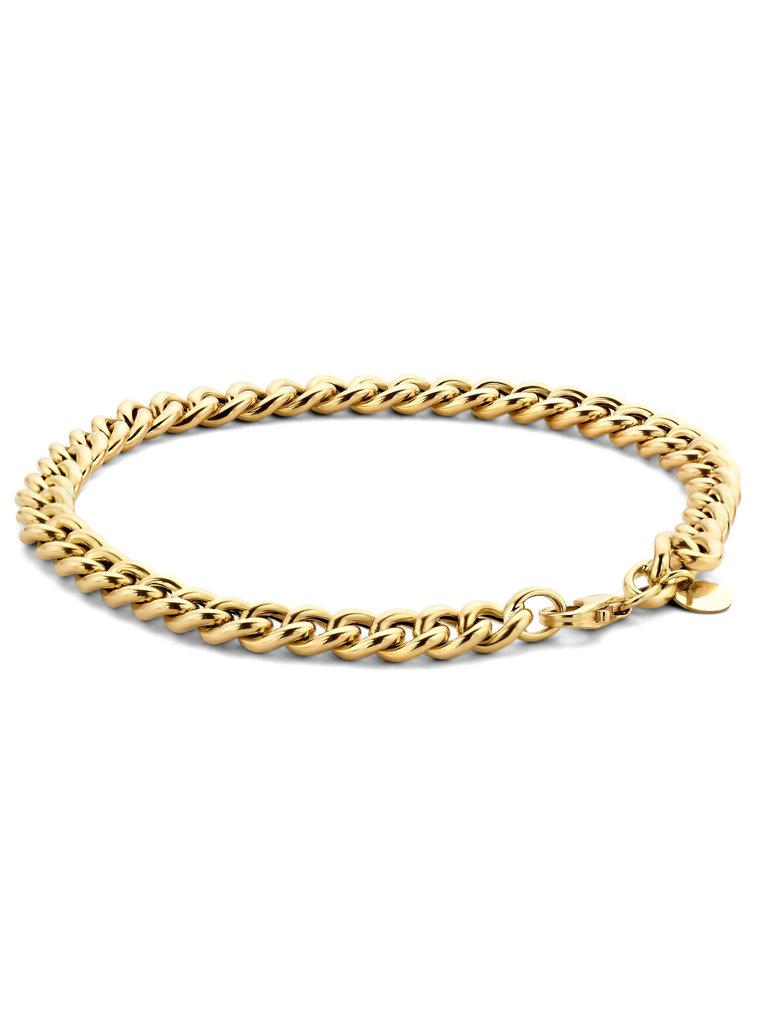 Just Franky Just Franky chain bracelet geelgoud