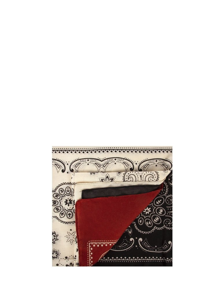 Rinascimento Rinascimento sjaal met paisley print zwart multicolor