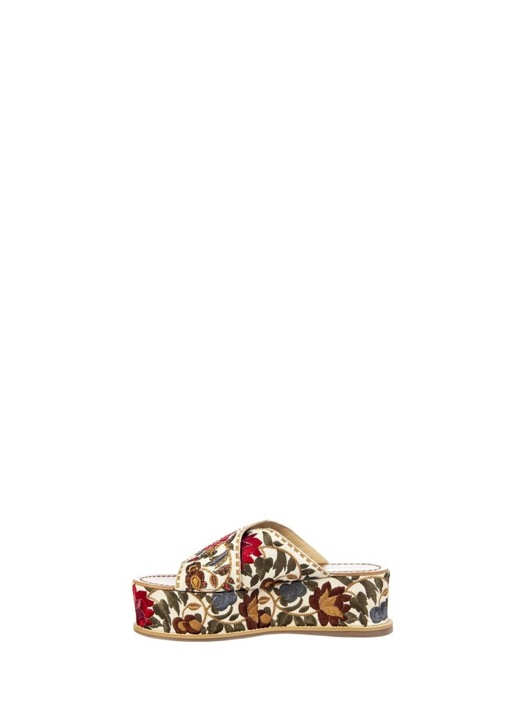 Rinascimento Rinascimento sandalen met bloemenprint multicolour