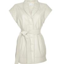 Est'seven Est'Seven Leather cardigan gilet Macy off-white