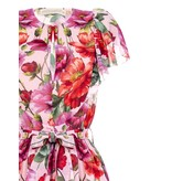 Rinascimento Rinascimento midi jurk met bloemenprint en volant multicolor