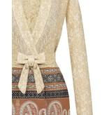 Rinascimento Rinascimento lang vest met details beige