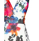 Rinascimento maxi jurk met mix print multicolor