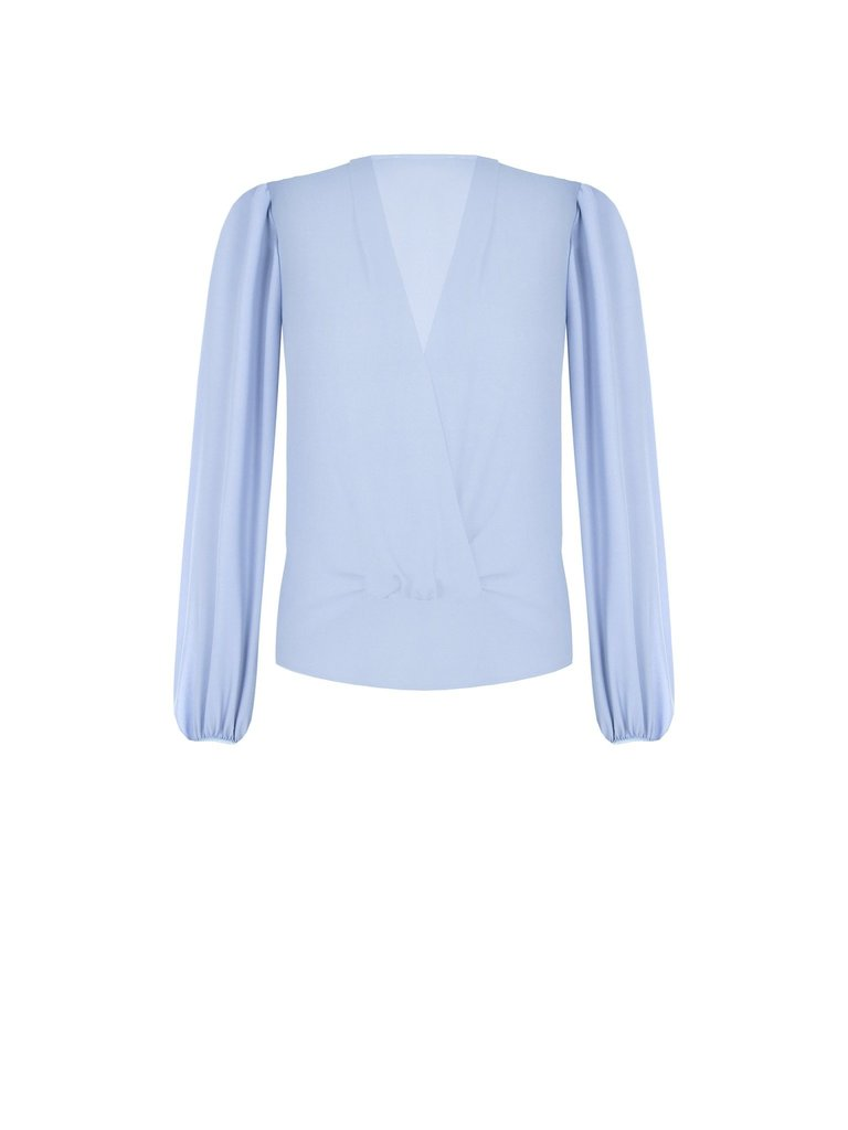Rinascimento Rinascimento blouse met knoop detail blauw