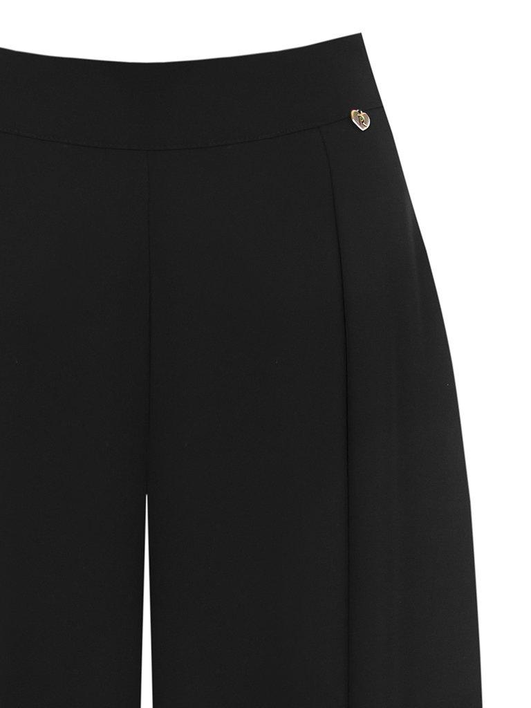 Rinascimento Rinascimento wijd uitlopende pantalon met kant zwart