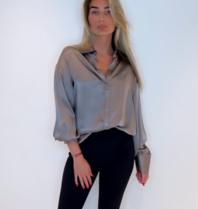 Est'seven Est'Seven One silk blouse simply taupe