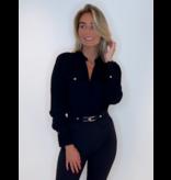 Elisabetta Franchi Elisabetta Franchi overslag body zwart