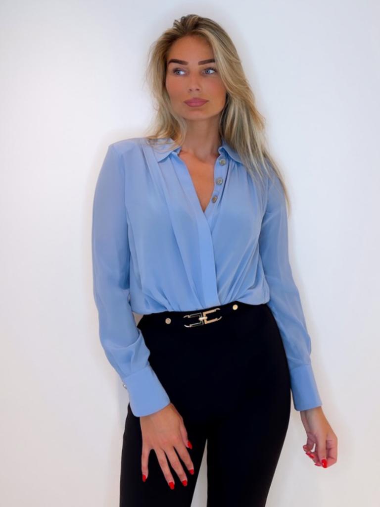 Elisabetta Franchi CB00216E2 SHIRT BAY BLUE