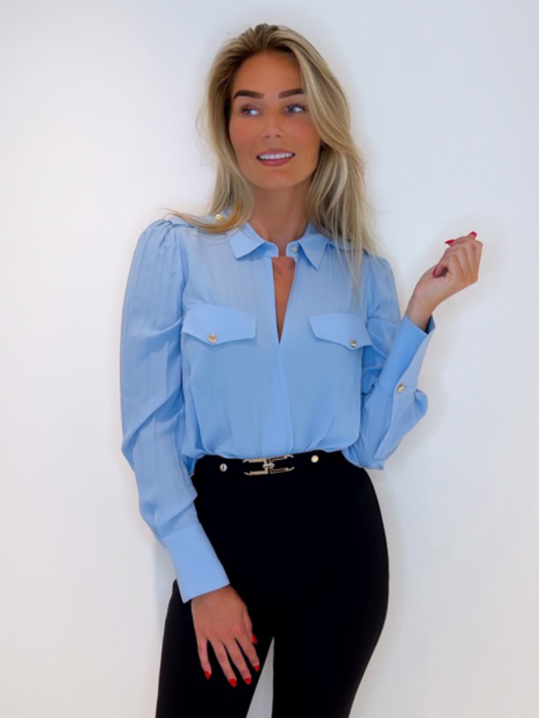 Elisabetta Franchi CB00116E2 SHIRT BABY BLUE