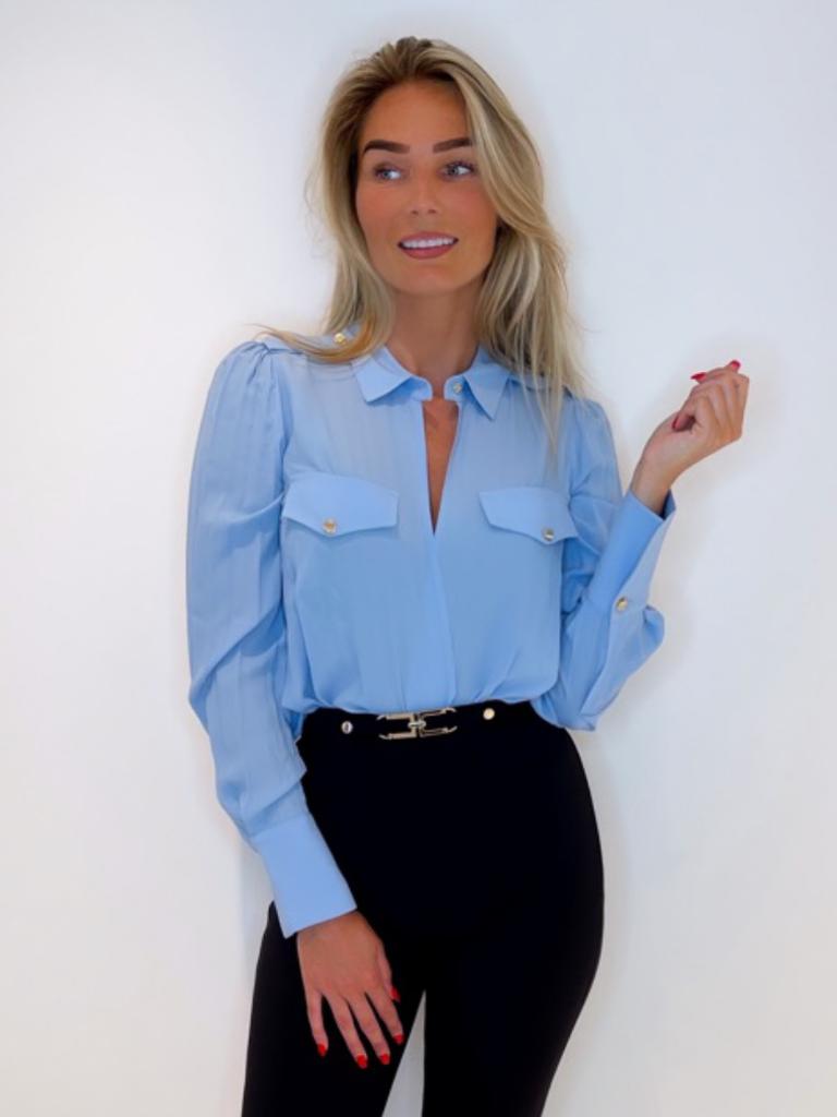 Elisabetta Franchi Elisabetta Franchi overslag body blauw