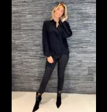 Elisabetta Franchi Elisabetta Franchi blouse met pofmouwen zwart