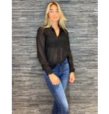 Rinascimento Rinascimento blouse met borstzakken zwart