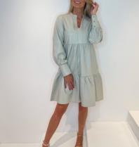 Est'Seven Jolanda leather dress off-white