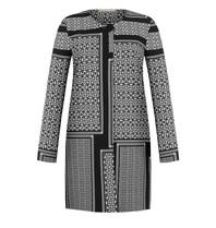 Rinascimento Rinascimento jacket met labyrint patroon zwart wit