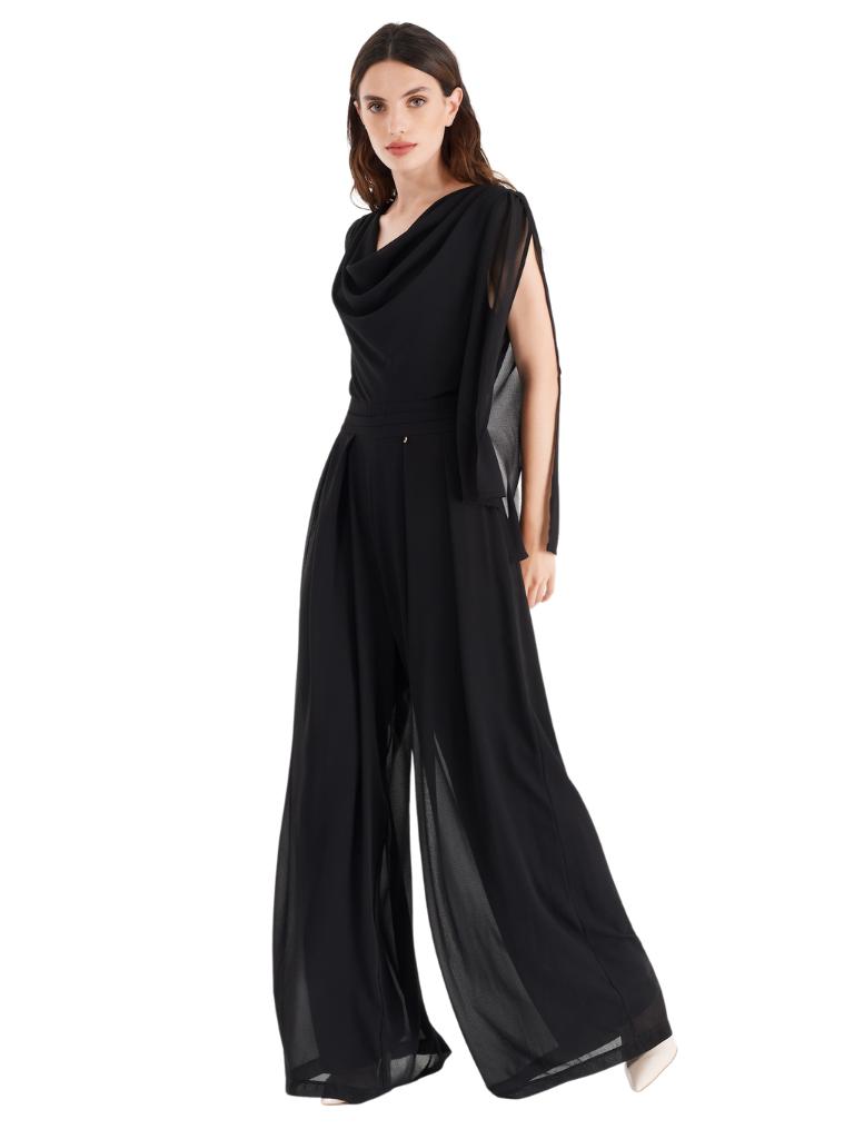 Rinascimento Rinascimento jumpsuit met mouw details zwart