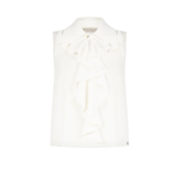 Rinascimento Rinascimento mouwloze blouse met ruffles wit