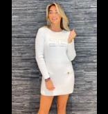 Elisabetta Franchi Elisabetta Franchi jurk met logo wit