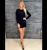 Elisabetta Franchi Elisabetta Franchi jurk met logo zwart