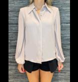 Elisabetta Franchi Elisabetta Franchi blouse met pofmouwen malva