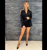 Elisabetta Franchi Elisabetta Franchi overslag body met knopen zwart