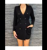 Elisabetta Franchi Elisabetta Franchi jurk/vest met knopen zwart