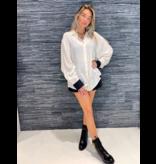 DMN Paris DMN Paris Chloe Zijde blouse met accent zwart