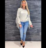 Est'Seven leather fringle blouse