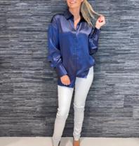 Est'seven Est'Seven One silk blouse dark blue