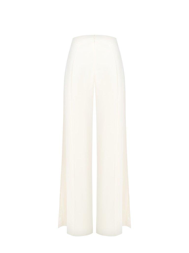 Rinascimento Rinascimento flared pantalon ivoor wit