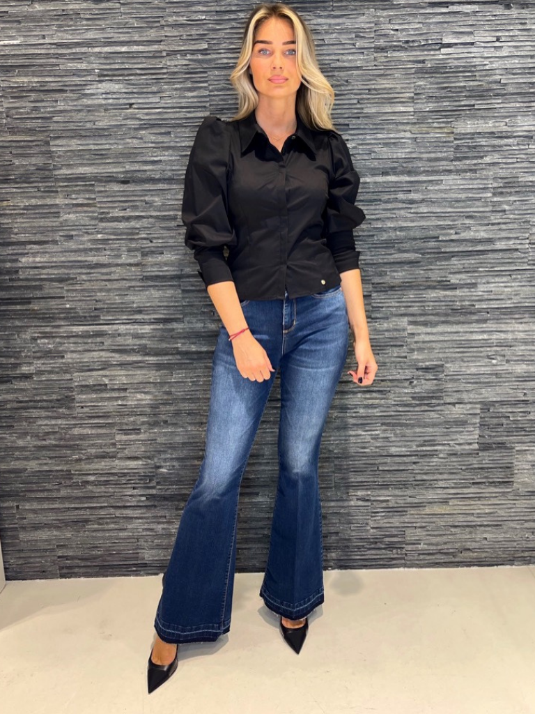 Rinascimento Rinascimento blouse met pofmouwen zwart