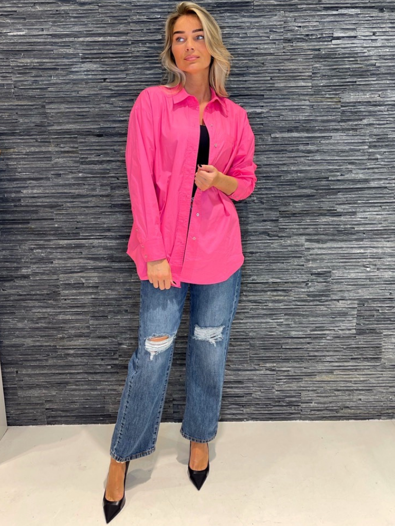 Co'couture Co'Couture oversized blouse roze