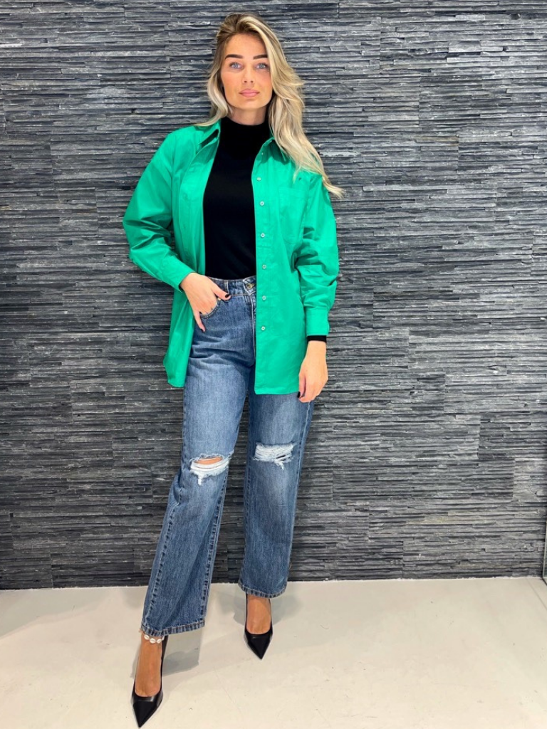 Co'couture Co'Couture oversized blouse groen