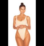 La Sisters LA Sisters Low Cut Basic Swimsuit Cream