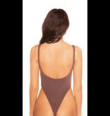 La Sisters LA Sisters Low Cut Basic Swimsuit Chocolate