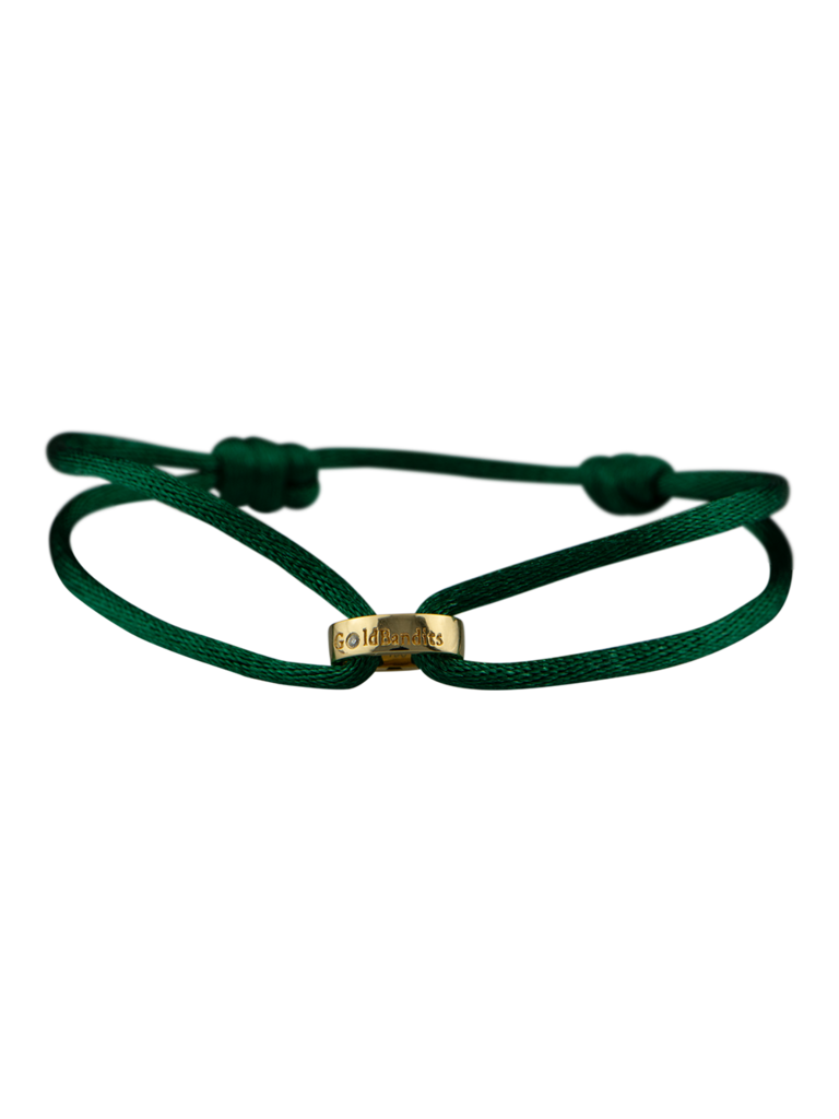 Goldbandits GoldBandits cord bracelet Make A Statement gold