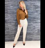 Rinascimento Rinascimento blouse met pofmouwen bruin