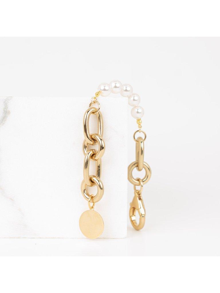 Souvenirs de Pomme Souvenirs de Pomme  armband Lima pearl