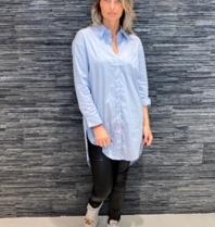 Co'couture Co'couture blouse Hannah midi shirt blue