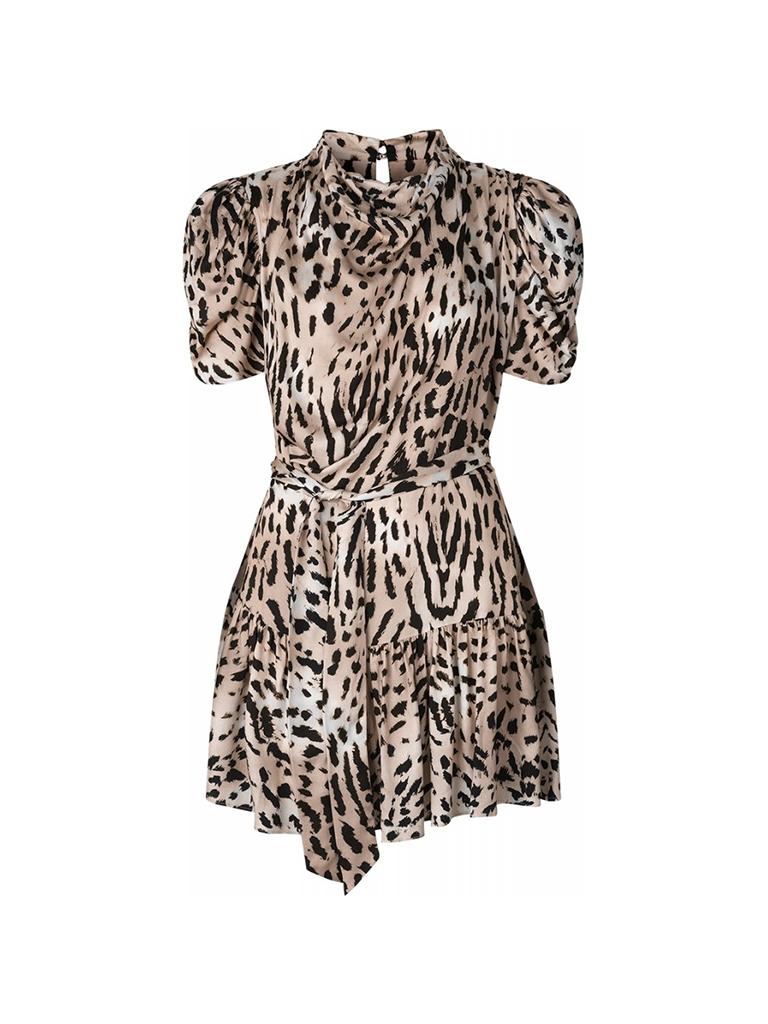 RAVN RAVN RAVN RAVN jurk Lupe warm Leopard