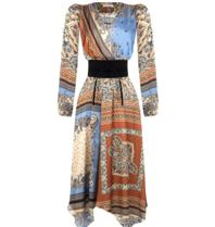 Rinascimento Rinascimento midi jurk met paisley print multicolor