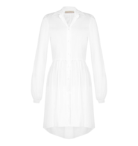Rinascimento Rinascimento jurk met plooien en pofmouwen wit