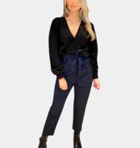 Les Favorites Les Favorites Marsha vest met pofmouwen zwart