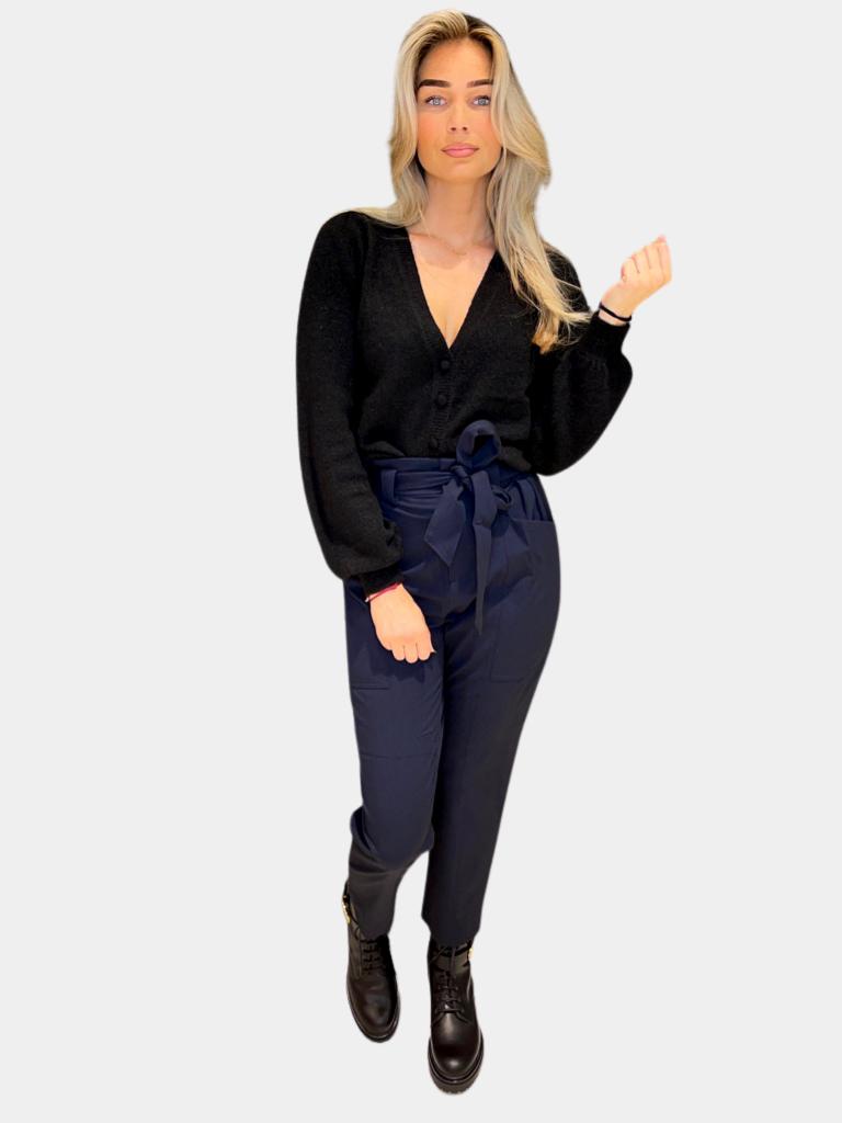Co'couture Co'couture Miya pocket pantalon donkerblauw