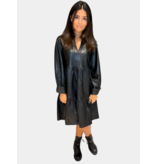 Est'seven Est'Seven Jolanda leather dress zwart