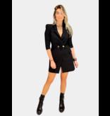 Elisabetta Franchi Elisabetta Franchi blazerjurk met kettingdetails zwart