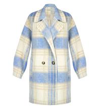 Rinascimento Rinascimento geruite fleece jacket blauw