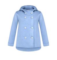Rinascimento Rinascimento jas met knopen en capuchon lichtblauw
